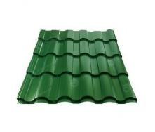 Металлочерепица Сталекс VALENCIA 350/15 0,45 мм PE Китай (Sutor Steel) (RAL6005/зеленый мох)