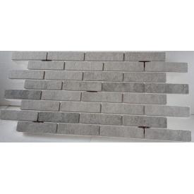 Термопанель с фасадной плиткой керамогранит Golden Tile BrickStyle Seven Tones 1000x600 мм серая