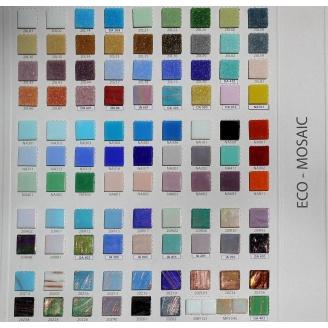 Мозаика стеклянная на бумаге Eco-mosaic ОДНОТОННАЯ 20x20 мм