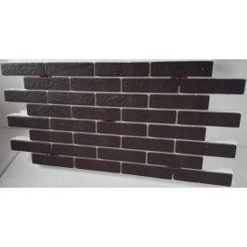 Термопанель з фасадною плиткою керамограніт Golden Tile BrickStyle Strand коричневий 1000x600 мм