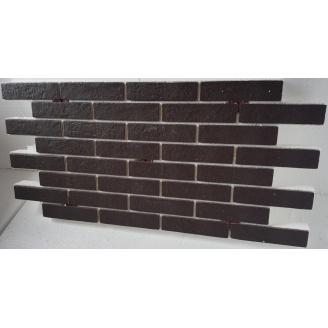 Термопанель с фасадной плиткой керамогранит Golden Tile BrickStyle Strand коричневый 1000x600 мм
