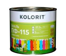 Эмаль Kolorit ПФ-115 Универсал 2,5 л коричневая