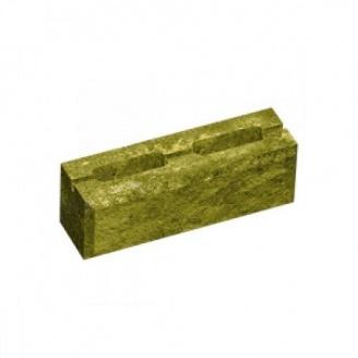 Блок колотый М-75 390х188х140 мм желтый