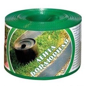 Бордюрная лента 0,10х9 м зеленая