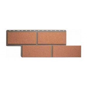 Фасадна панель Альта-Профіль Камінь Неаполітанська 1250х450х26 мм персиковий