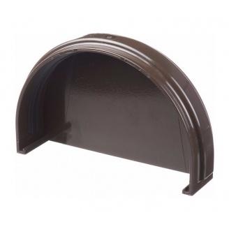 Заглушка желоба Docke Standard 135х30 мм шоколад