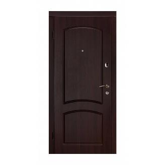 Дверь входная Двери Белоруссии Капри-В 880x2040х60 мм темный орех