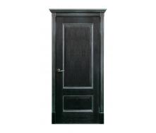 Дверь межкомнатная Двери Белоруссии Зевс ПГ 600x2000 мм черная патина серебро
