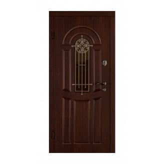 Дверь входная Двери Белоруссии Флора 880x2040х70 мм орех коньяк
