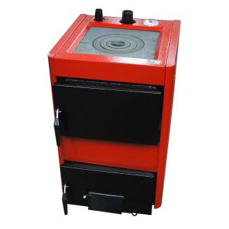 Котел на твердом топливе Проскуров с плитой сталь 6 мм 14 кВт