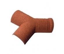Y-подібний гребінний елемент Metrotile 45 градусів 175 мм червоний