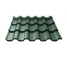 Металлочерепица Ruukki Adamante Polyester Matt 0,5 мм темно-зеленый