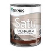 Воск для сауны TEKNOS Satu Saunavaha 0,45 л серый
