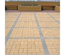 Тротуарная плитка Золотой Мандарин Кирпич стандартный 200х100х40 мм на белом цементе желтый