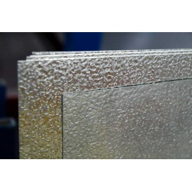 Алюминиевый декоративный полужесткий лист АД0Н2 Апельсиновая корка 0,4х1000х2000 мм