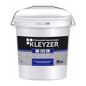 Декоративная штукатурка KLEYZER AK 125 SK акриловая короед 25 кг белый