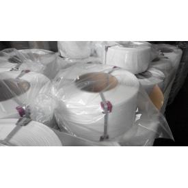 Лента полипропиленовая упаковочная белая 16*1,0/1,3