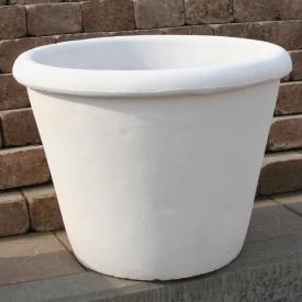 Бетонна ваза Золотий Мандарин Велика 470 мм біла