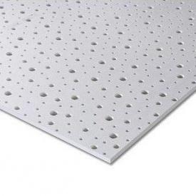 Гипсокартон Knauf Cleaneo Akustik PLUS 12/20/35R 4SK 12,5х1200х2500 мм белый