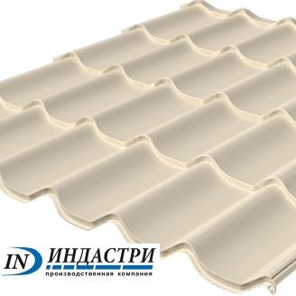 Металлочерепица ПК Индастри Monterrey 0,4x1250 мм 1195/1105 мм матовый полиэстер PEMA RAL 1015