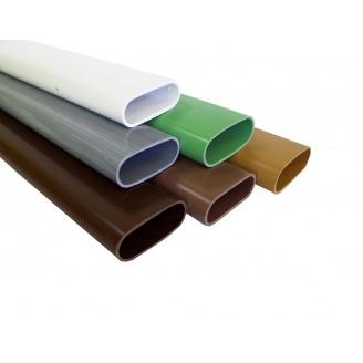 Лавочный профиль Next Level Plast ПВХ 6000х85х35 мм дуб