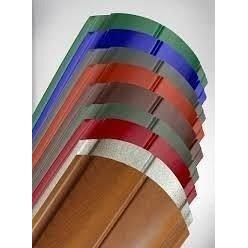 Штакета металлическая 110 мм коричневая