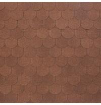 Бітумно-полімерна черепиця Tegola Nobil Tile Верона 1000х340 мм коричневий