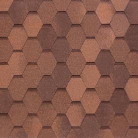 Бітумно-полімерна черепиця Tegola Nobil Tile Вест 1000х337 мм червоно-коричневий