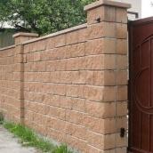 Блок декоративный Золотой Мандарин М-200 двухсторонний скол 400х200х150 мм персиковый