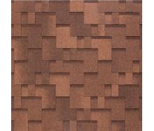 Бітумно-полімерна черепиця Tegola Nobil Tile Акцент 1000х337 мм червоно-коричневий