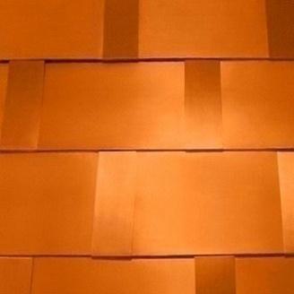 Битумная черепица Tegola Prestige Gold Компакт с медным покрытием 340х1000 мм позолоченная