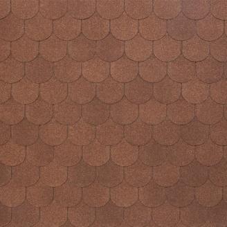 Битумно-полимерная черепица Tegola Nobil Tile Верона 1000х340 мм коричневый
