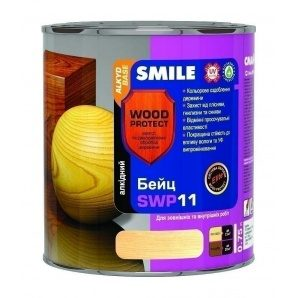 Бейц алкидный SMILE SWP-11 WOOD PROTECT Elite 0,75 л олива