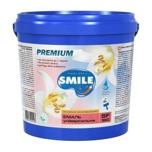 Емаль універсальна SMILE SF-180 12 кг водно-дисперсійна