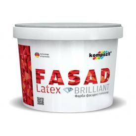 Фасадная краска Kompozit FACADE LATEX матовая 1,4 л белый
