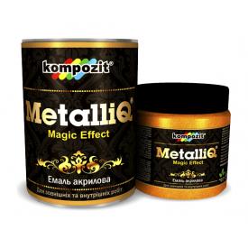 Емаль акрилова Kompozit METALLIQ металік 0,9 кг срібло