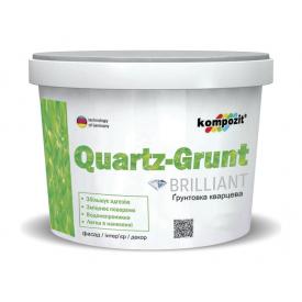 Грунтовка кварцова Kompozit QUARTZ-GRUNT 14 кг білий