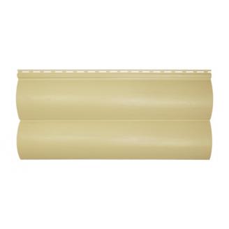 Сайдинг вініловий Альта-Профіль BlockHouse Slim двухпереломний 3660х230х11 мм пісочний