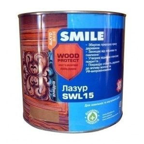 Лазурь SMILE SWL-15 WOOD PROTECT 19 л махагон