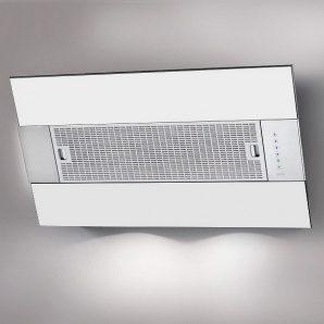 Пристінна витяжка BEST IRIS White 800х341х950 мм нержавіюча сталь