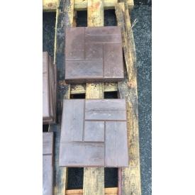 Плитка тротуарная Alex Group доска квадрат 300х300х30 мм коричневая