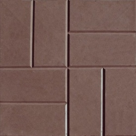 Плитка тротуарная Alex Group 250х250х25 мм коричневая