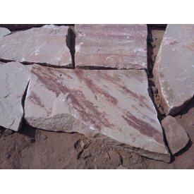 Песчаник Alex Group Теребовлянский плоский 3 см красно-серый