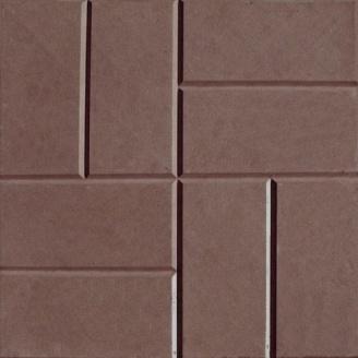 Плитка тротуарна Alex Group 250х250х25 мм коричнева