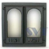 Каминная дверца SVT 400 2-х створчатая без экрана 600х600 мм