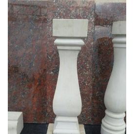 Балясина тесана з пісковика 700х200х200 мм світло-сіра