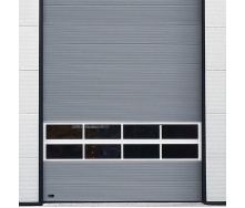 Ангарні ворота Ryterna MACRORIB 8000x4000 мм RAL 9006