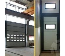 Ангарні ворота Ryterna TLP Ultra Thermo RIB 6000x6000 мм RAL 9016