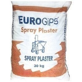 Распыляемая гипсовая штукатурка EUROGIPS Spray plaster 30 кг