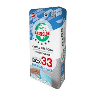 Клей Anserglob ВСХ 33 универсальный морозостойкий 25 кг